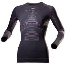 Accumulator Evo LS Round Neck Women Charcoal/Fuchsia