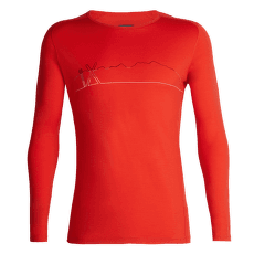Oasis Deluxe Raglan LS Crewe Single Line Ski CHILI RED