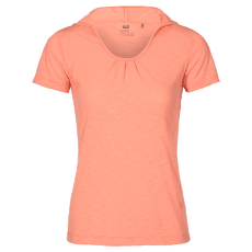 Travel Hoody T-Shirt Women apricot pastel 3121