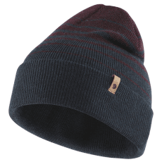 Classic Striped Knit Hat Dark Navy-Dark Garnet