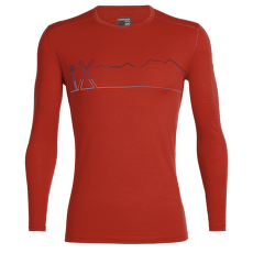 Oasis LS Crewe Single Line Ski Men CHILI RED