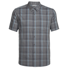Compass SS Shirt Men Metal/Monsoon/Plaid