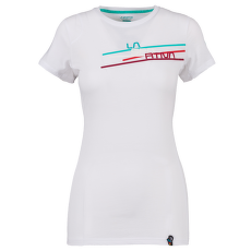 Stripe 2.0 T-Shirt Women White/Aqua