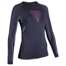 Visyon UW Shirt LS Women Charcoal/Raspberry/White