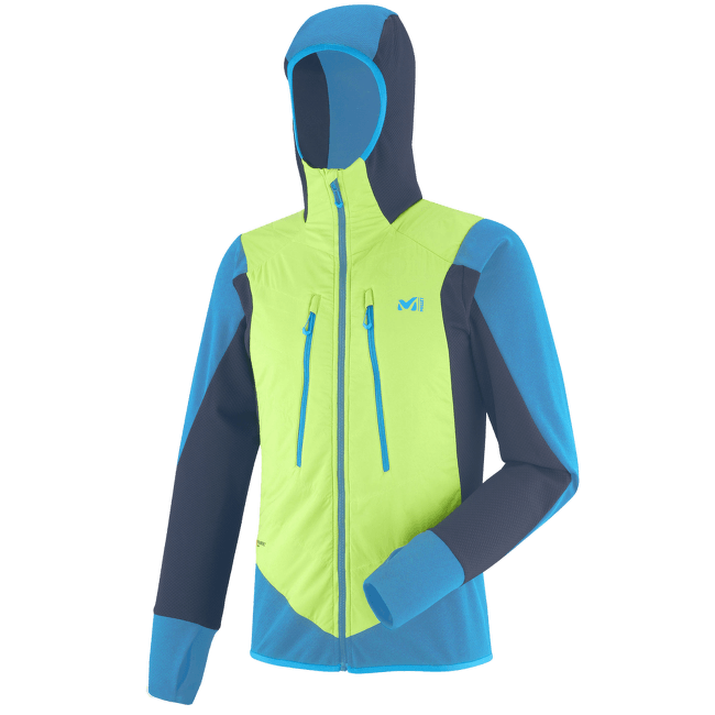 Extreme Rutor Alpha Compo Hoodie Men ACID GREEN/TEAL BLUE