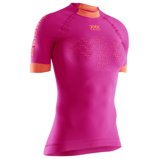 The Trick G2 Run Shirt SH SL Women Pink-Kurkuma Orange