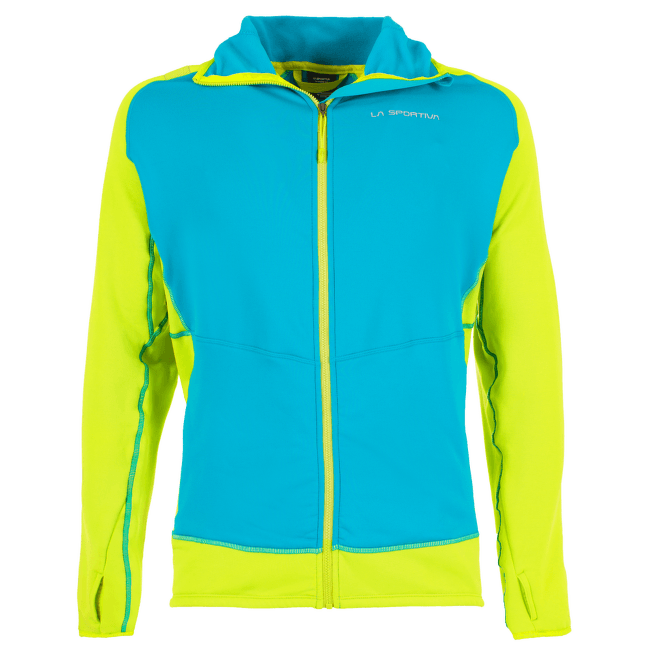 Iridium Hoody Men Tropic Blue/Apple Green