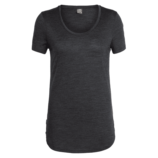 Solace SS Scoop Women Black HTHR