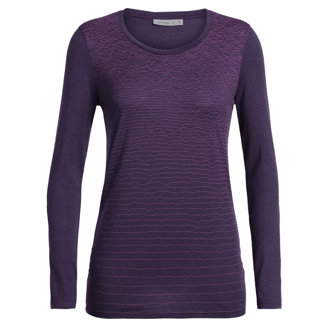 Tech Lite LS Low Crewe Landscape Lines Women Lotus