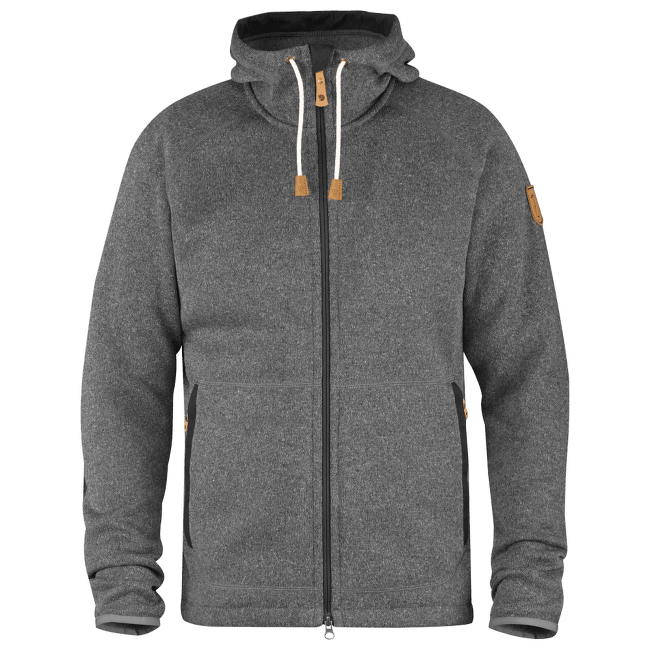 Ovik Fleece Hoodie Men Dark Grey