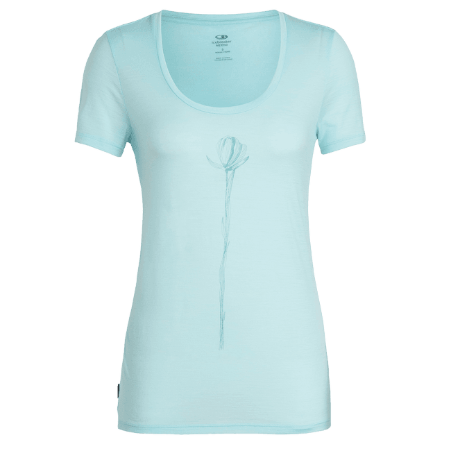 Tech Lite SS Scoop Solo Women AQUA SPLASH