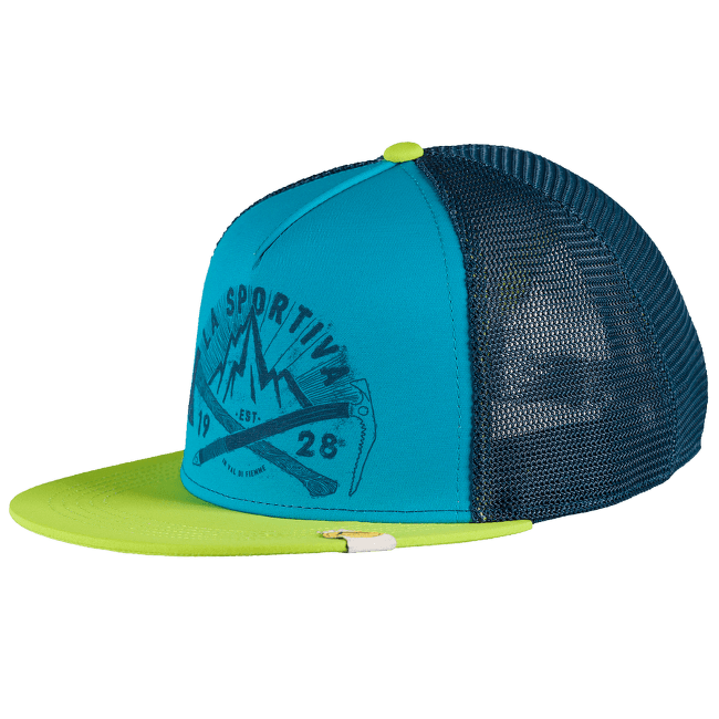 Hipster Trucker Apple Green/Tropic Blue