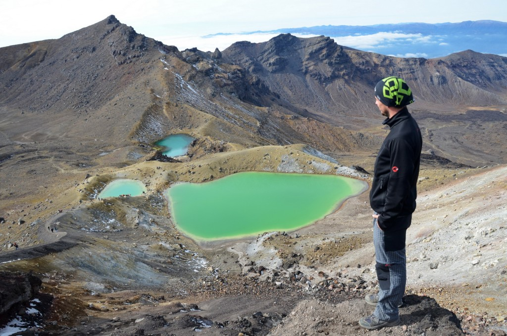 Jezírka Emerald Pools na treku Tongariro Crossing